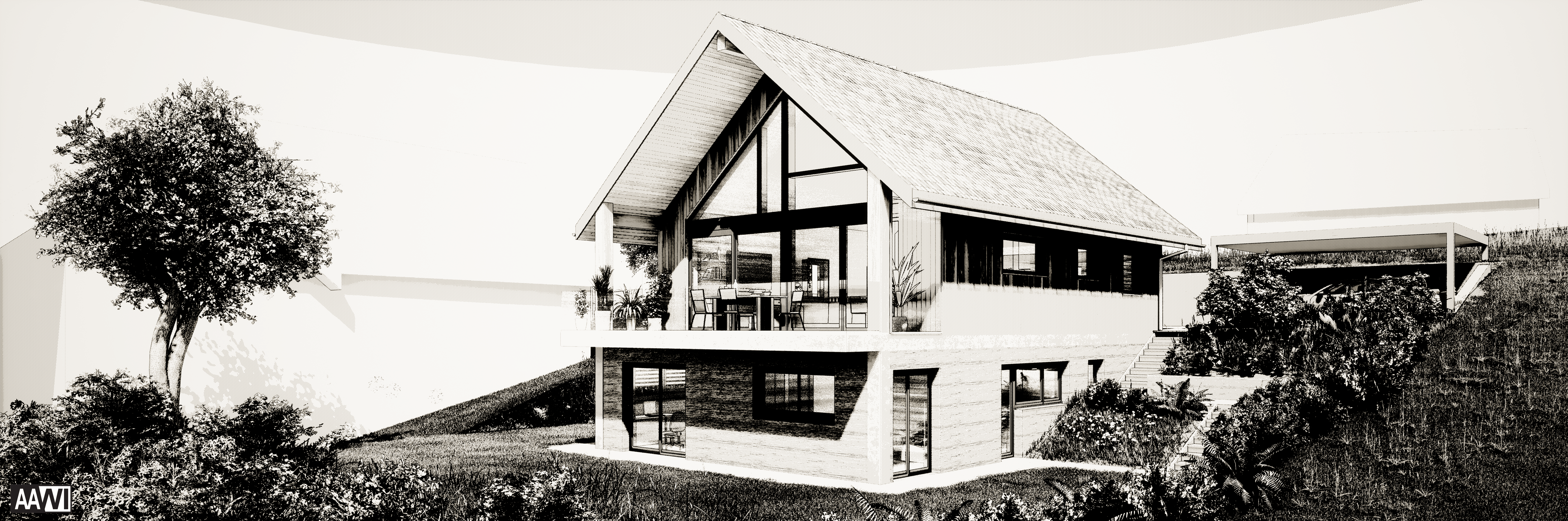 Villa béton-bois